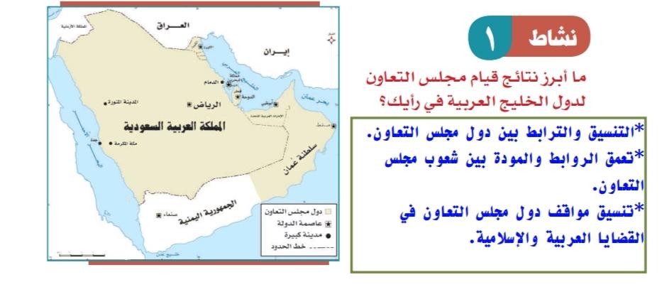 ما ابرز نتائج قيام مجلس التعاون لدول الخليج العربية في رايك الموقع المثالي