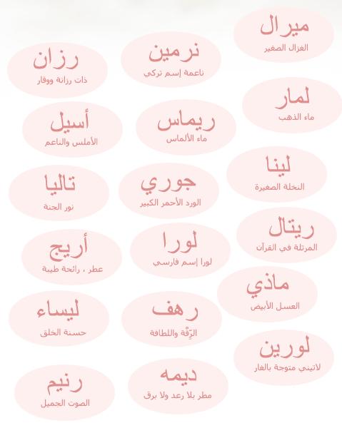 اسماء اولاد عربية اصيلة 2019 15