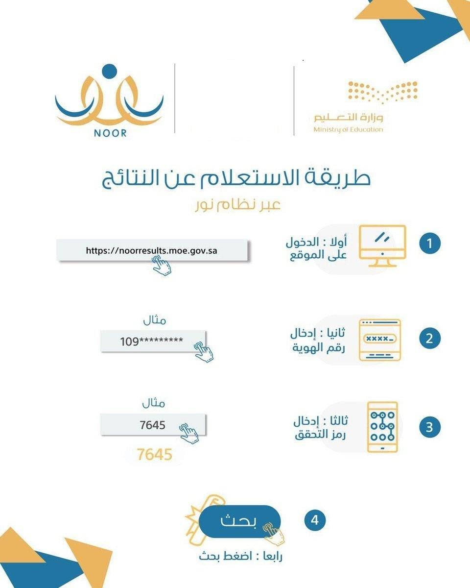 نظام نور برقم الهوية فقط 1442 للاستعلام عن نتائج الطلاب الموقع المثالي