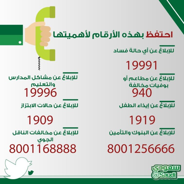 رقم الطوارئ السعودية الموقع المثالي